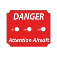 Panneau Danger Attention Airsoft - Sécurité