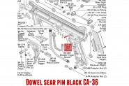 Dowel Sear Pin Black TIPPMANN 98 BO SO TO CA-36