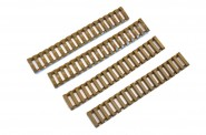 Couvre Rail Gomme Type Lader ( pack de 4) Tan