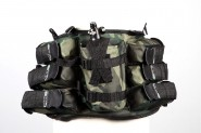 Harnais Paintball Ceinture 6 Pots Woodland + Bout.
