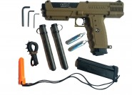 KIT Pistolet defense + 20 Billes gomme Dures Brown