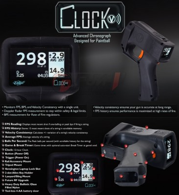 Radar Chronographe Clock Virtue Paintball