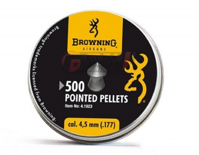 Plombs 4.5 mm Browning Tête pointue  0,50 g