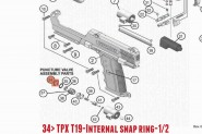 Internal Snap Ring 1/2 pour TIPPMANN TPX TA07089