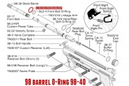 Barrel O-Ring pour TIPPMANN 98 BO SO TO FT12 98-40